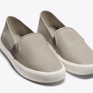 VINCE Blaire 5 slip- on leather sneakers in taupe